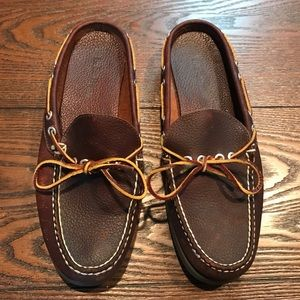 LL Bean Leather Slide Loafers